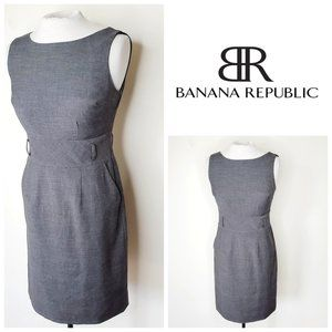 BANANA REPUBLIC Rayon Grey Sheath Dress